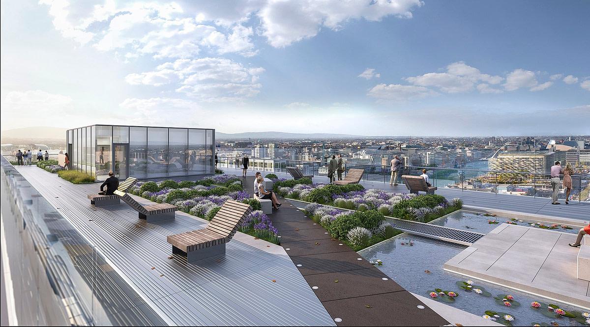 The Exo Building Dublin Rooftop Garden